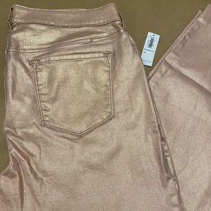 Old Navy Metallic Jeans 16 Rose Gold